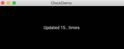 Example for using clock objects in a kivy app